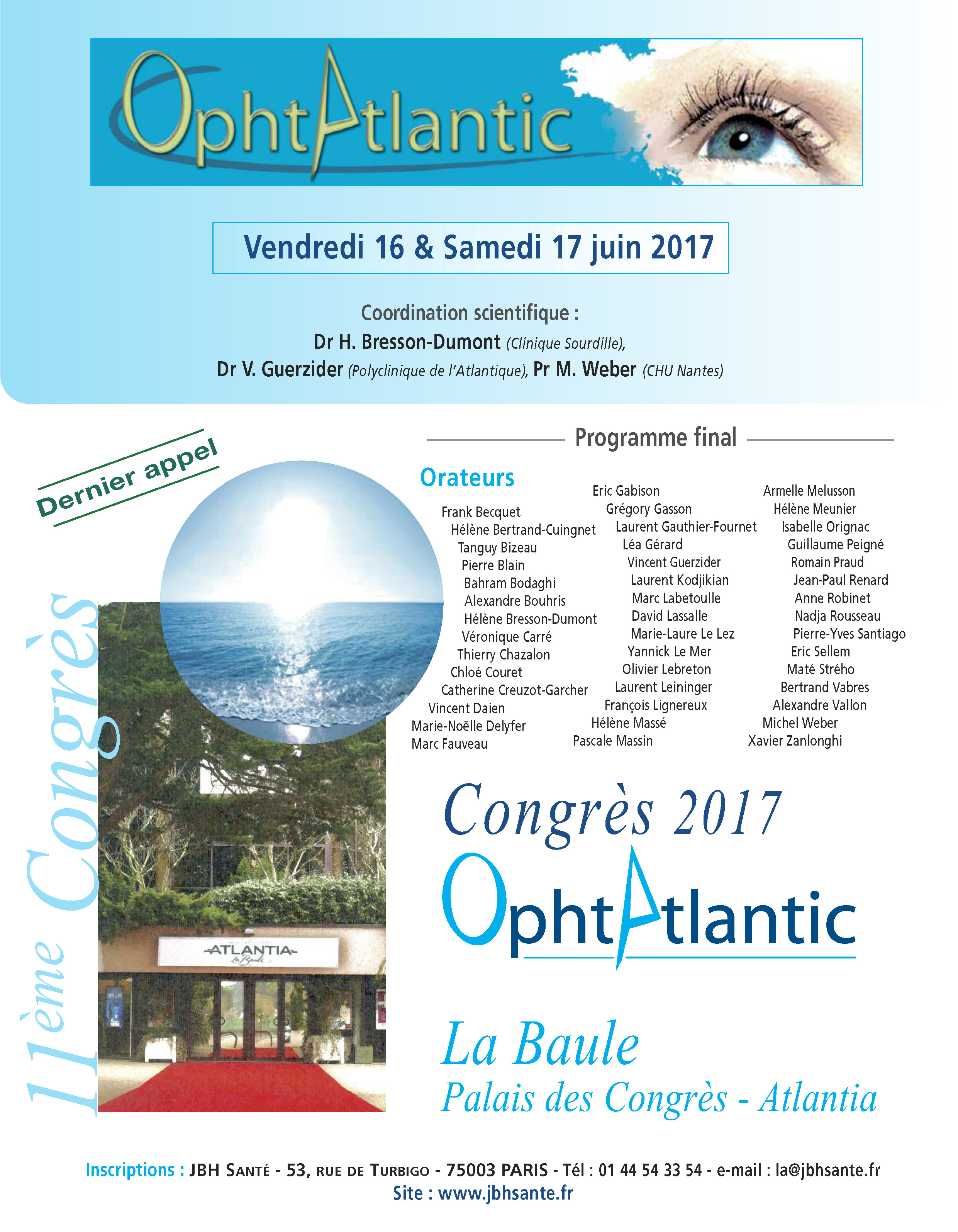 11e Edition d'OphtAtlantic